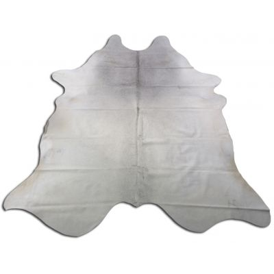 Light Grey Cowhide Rug Size: 8' X 7' Grey/White Cowhide Rug O-910