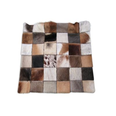 African Skins Patchwork Pillow Cover - 18 in X 18 in - O-924