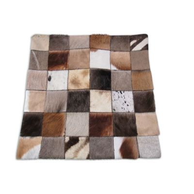 African Skins Patchwork Pillow Cover - 18 in X 18 in - O-925