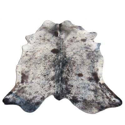 Speckled Cowhide Rug Size: 7 1/2' X 6' Brown/White Cowhide Rug O-994