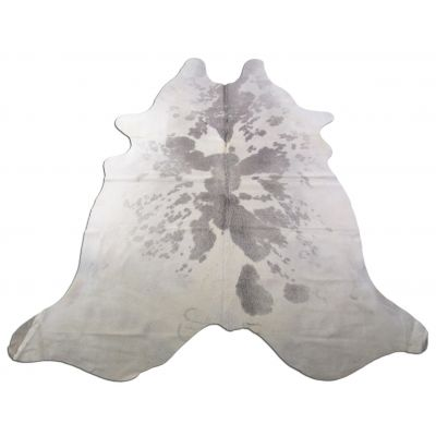 Speckled Grey and White Cowhide Rug Size: 7 1/2' X 6 1/2' Grey/White Cowhide Rug O-995