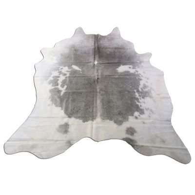 Speckled Grey and White Cowhide Rug Size: 6 1/2' X 6 1/2' Grey/White Cowhide Rug O-998