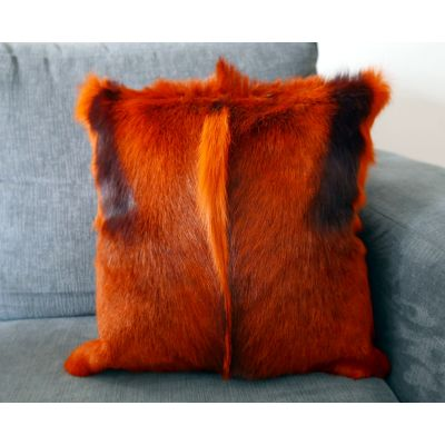 "Burnt Orange Springbok Pillow Cover - Size: 15x15"" (similar to cow hide skin pillow)"