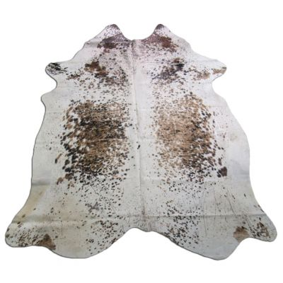 Speckled Tricolor Cowhide Rug Size: 8' X 6' Brown/White Cowhide Rug P-026