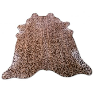 Leopard Print Cowhide Rug Size: 7' X 6 1/4' Small Leopard Cowhide Rug P-093