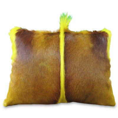 """Yellow Springbok Pillow - Size: 16"""" X 14"""" - Pillow-216"""