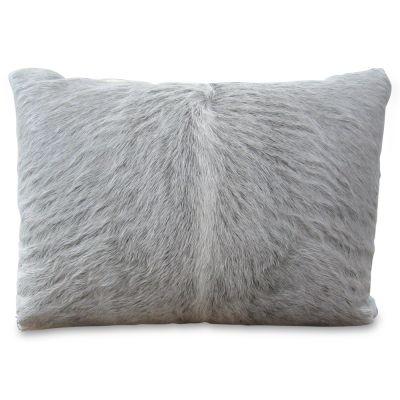 "Cowhide Pillow Size: 14"" X 18"" Grey Calf Skin Pillow-217"