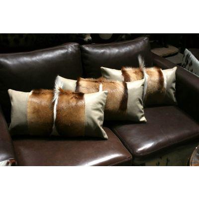 "Springbok Pillow Cover - Size: 21""x10"" (similar to cow hide skin pillow)"