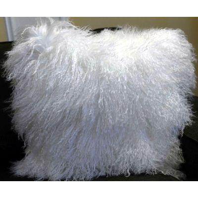 "Mongolian Lamb Pillow Cover - Size: 16""x16'"" - Tibetan Lamb Pillow Cover"