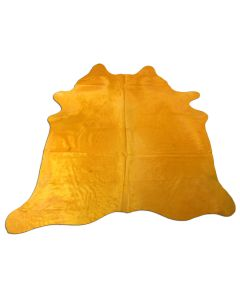 Yellow Cowhide Rug Size: 6 1/4' X 6 1/4' Dyed Yellow Cowhide Rug C-1087