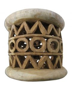 """African Bamileke Stool Carved Wood Stool from Cameroon Size: 20"""" X 20X 16"""""""" inches"""