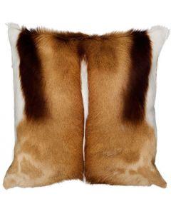 "Springbok Skin Pillow Cover - Size: 17x17"" (similar to cow hide skin pillow)"