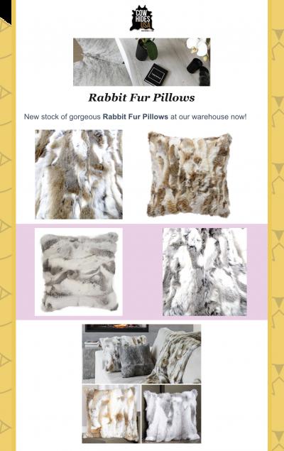 Rabbit Fur Pillows In Stock